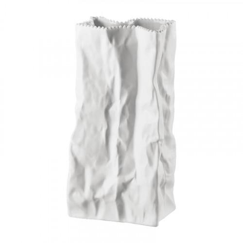 Rosenthal studio-line Do not litter Tütenvase weiß matt 22 cm