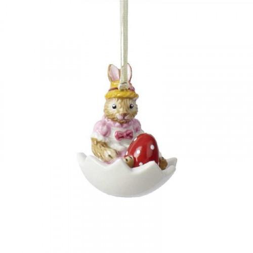 Villeroy & Boch Bunny Tales Ornament Hase Anna in Eischale - Hänger 5 cm