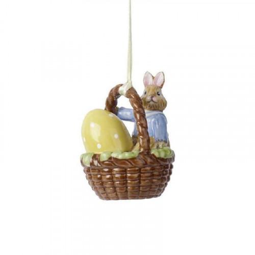 Villeroy & Boch Bunny Tales Ornament Korb Hase Max - Hänger 5 cm
