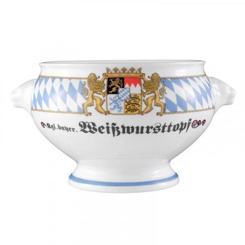 Seltmann Weiden Compact Bayern Löwenkopfterrine o. De. 'Weisswursttopf' 2,1 L