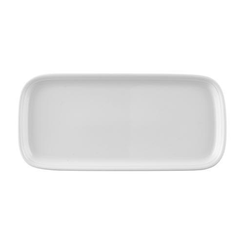 Thomas Trend weiß Kuchenplatte rechteckig 34,5x16 cm