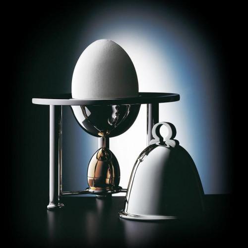 Robbe & Berking Tafelgeräte 925 Sterling Silber Eierbecher mit Salzstreuer und Cloche