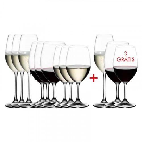 Riedel Gläser Ouverture Ouverture Glas Set 12-tlg. 'Kauf 12 Zahl 9' 4x Rotwein + 4x Weißwein + 4x Champagner