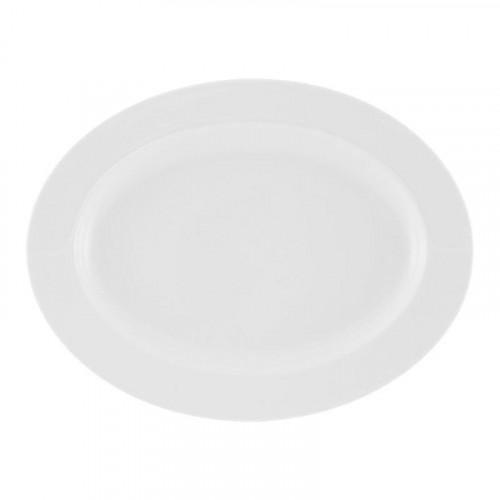 Friesland La Belle weiß Platte oval 32x24,5 cm