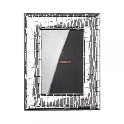 Sambonet Silberrahmen Bilderrahmen Skin versilbert 9 x 13 cm