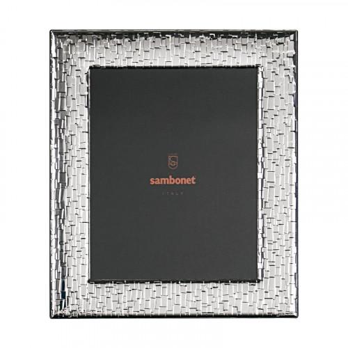 Sambonet Silberrahmen Bilderrahmen Skin versilbert 18 x 24 cm
