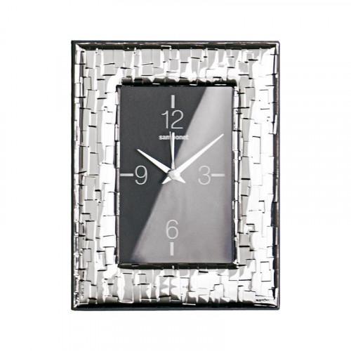 Sambonet Silberrahmen Uhr Skin versilbert 9 x 13 cm