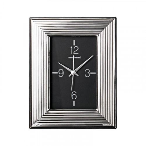 Sambonet Silberrahmen Uhr More versilbert 9 x 13 cm