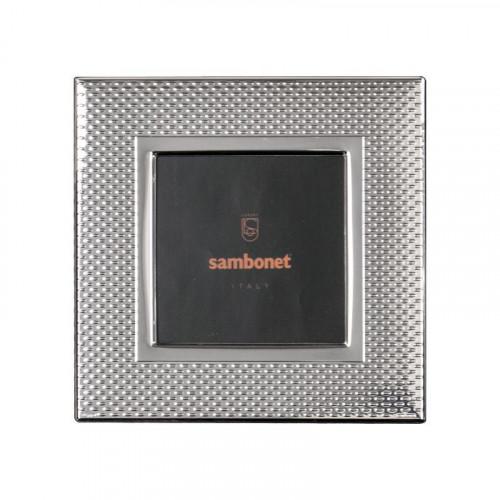 Sambonet Silberrahmen Bilderrahmen Dew versilbert 13 x 13 cm