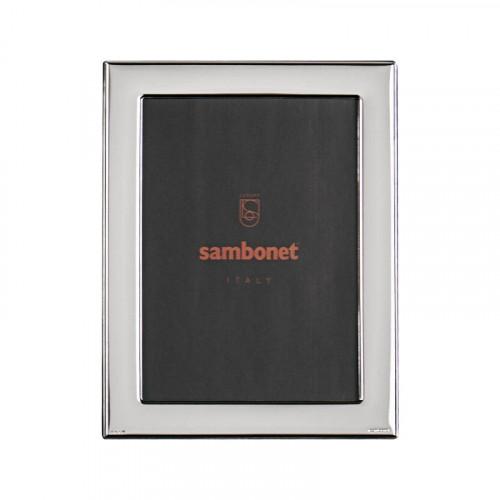 Sambonet Silberrahmen Bilderrahmen Flat versilbert 13 x 18 cm