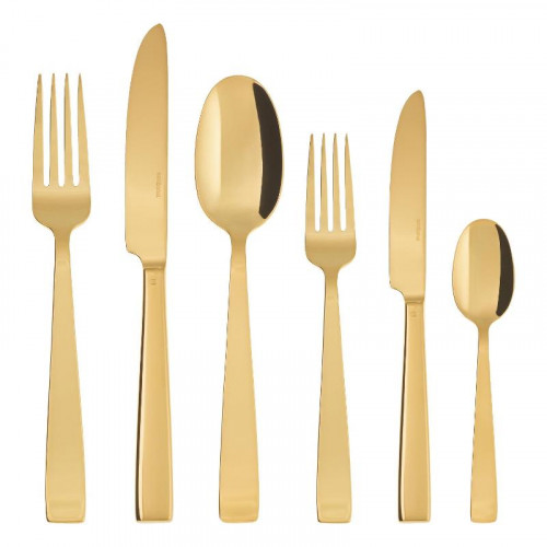 Sambonet Flat - Edelstahl / PVD Gold Besteckset 36-tlg. Vollheft / Monoblock