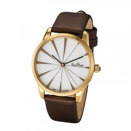 Rosenthal Classic Watch-Collection Armbanduhr 'Sun Ray' gelbgold-white-brown
