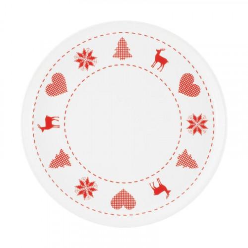 Friesland Happymix Weihnachten Weiß Frühstücksteller/Jumbo-Untertasse 19 cm