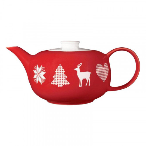 Friesland Happymix Weihnachten Rot Teekanne 1,0 L