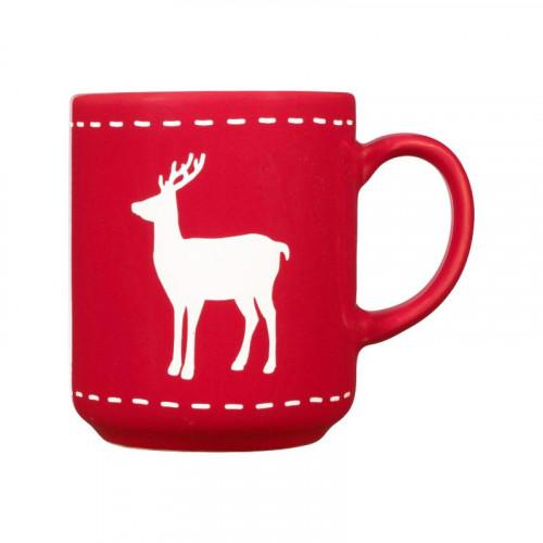 Friesland Happymix Weihnachten Rot Becher mit Henkel Hirsch 0,28 L
