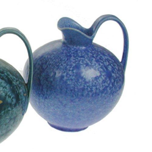 Uhl-Design Henkelkrug blau 'Handarbeit - mit aufwendiger Kristallglasur'