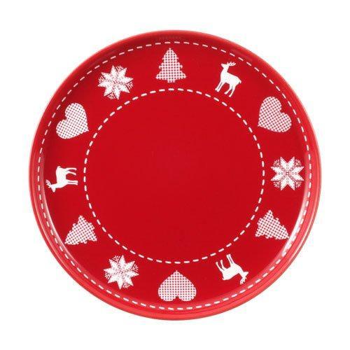 Friesland Happymix Weihnachten Rot Früstücksteller/Jumbo-Untertasse 19 cm