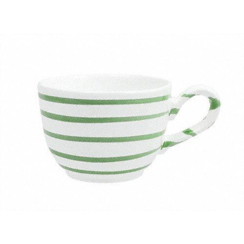 Gmundner Keramik Grüngeflammt Kaffee-Obertasse glatt 0,19 L / h: 6,6 cm
