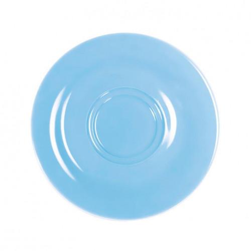 Kahla Pronto Colore himmelblau Cappuccino-/Macchiatobecher-/Kaffeebecher-Untertasse 16 cm