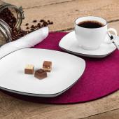 Seltmann Weiden Lido Black Line Kaffee-Set eckig 18-tlg.