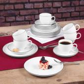 Seltmann Weiden Lido Black Line Kaffee-Set 18-tlg.