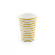 Gmundner Keramik Gelbgeflammt Trinkbecher 0,28 L / h: 11 cm
