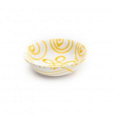 Gmundner Keramik Gelbgeflammt Müslischale klein d: 14 cm / h: 4,5 cm / 0,27 L