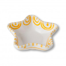 Gmundner Keramik Gelbgeflammt Sternschale Stella d: 14 cm / h: 3,9 cm