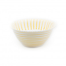 Gmundner Keramik Gelbgeflammt Salatschüssel d: 33 cm / h: 14 cm / 4,5 L
