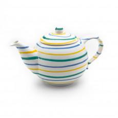 Gmundner Keramik Buntgeflammt Teekanne glatt 0,5 L / h: 12 cm