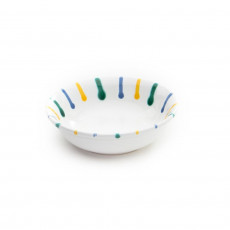 Gmundner Keramik Buntgeflammt Müslischale klein d: 14 cm / h: 4,5 cm / 0,27 L