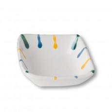 Gmundner Keramik Buntgeflammt Schälchen quadratisch 9x9x3,4 cm
