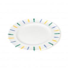Gmundner Keramik Buntgeflammt Dessertteller / Frühstücksteller Gourmet d: 18 cm / h: 1,8 cm