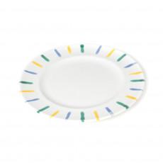 Gmundner Keramik Buntgeflammt Dessertteller / Frühstücksteller Gourmet d: 22 cm / h: 2,2 cm