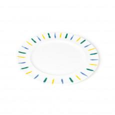 Gmundner Keramik Buntgeflammt Speiseteller Gourmet d: 29 cm / h: 2,2 cm