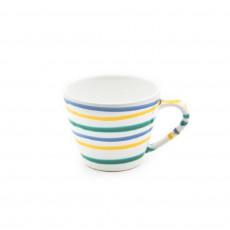 Gmundner Keramik Buntgeflammt Kaffee-Obertasse Gourmet 0,2 L / h: 7,5 cm