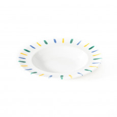 Gmundner Keramik Buntgeflammt Suppenteller Gourmet d: 24 cm / h: 4 cm