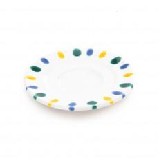 Gmundner Keramik Buntgeflammt Mokka-/Espresso-Untertasse Gourmet d: 11 cm