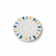 Gmundner Keramik Buntgeflammt Cappuccino-Untertasse Gourmet d: 14 cm