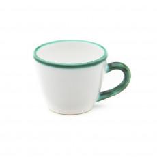 Gmundner Keramik Grüner Rand Mokka-/Espresso-Obertasse Gourmet 0,06 L / h: 5,1 cm