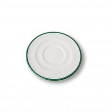 Gmundner Keramik Grüner Rand Cappuccino-Untertasse Gourmet d: 14 cm