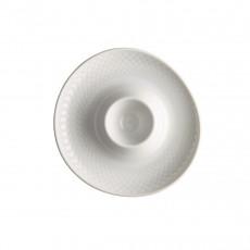 Rosenthal Junto Weiß - Porzellan Eierbecher mit Ablage 13 cm