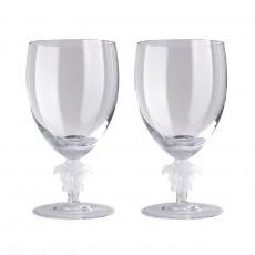 Rosenthal Versace Medusa Lumiere Wasser Glas h: 188 mm / 474 ml Set 2-tlg.