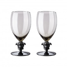 Rosenthal Versace Medusa Lumiere Haze Weißwein Glas grau h: 156 mm / 333 ml