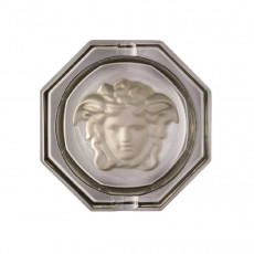 Rosenthal Versace Medusa Lumiere Haze Ascher Glas grau d: 13 cm