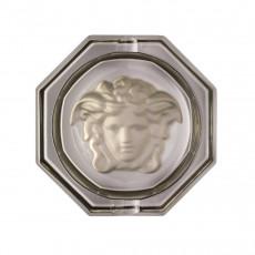Rosenthal Versace Medusa Lumiere Haze Ascher Glas grau d: 16 cm