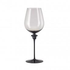 Rosenthal Versace Medusa Lumiere Haze Rotwein Bordeaux Glas grau h: 280 mm / 990 ml