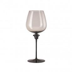 Rosenthal Versace Medusa Lumiere Haze Rotwein Burgunder Glas grau h: 280 mm / 870 ml