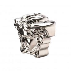 Rosenthal Versace Break the bank Spardose Medusenkopf silver 18x12x14,5 cm