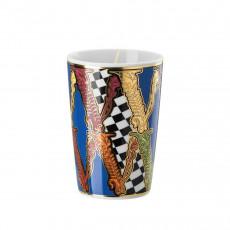 Rosenthal Versace Virtus Tischlicht mit Deckel und Duftwachs h: 14 cm / d: 8,5 cm